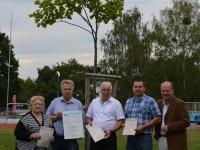 v.l.n.r.: Herta Schimon, Ing. Manfred Korntheuer, Bgm. Franz Wohlmuth, GR Ewald Figl, STADir. Leopold Ott