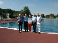 Bgm. Franz Wohlmuth, Oliver Herzog, Bettina Welke, Ing. Manfred Korntheuer, STADir. Leopold Ott